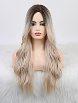 cheap -Cosplay Costume Wig Synthetic Wig Cosplay Wig Body Wave Side Part With Bangs Wig Long Light golden Synthetic Hair 24 inch Women's Fashionable Design Party New Arrival Blonde