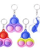 cheap -1PC Mini Simple Dimple Sensory Fidget Toy Key Chain Stress Relief Anti-Anxiety Autism Hand Toys for Kids Teen Adult, Push Pop Bubble Keychain Sensory Therapy Toys for Home Classroom Party Favors Office