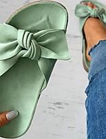 cheap -Women's Sandals Flat Heel Round Toe PU Yellow Pink Green