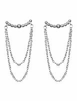 cheap -sluynz 925 sterling silver dangle earrings chain for women teen girls minimalist bar tassel chain earrings