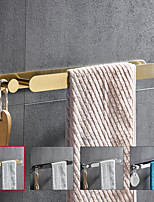 "cheap -16"" Stainless Steel Towel Bar with Hook, SUS304, Self Adhesive Bath Towel Rack, Contemporary Style, Towel Holder, Rustproof, 4-Finish, Gold, Brushed, Black, Mirror Polished, Punch-free"