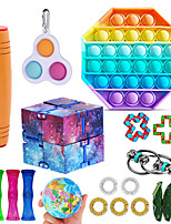 cheap -18 pcs Sensory Fidget Toys Pop Bubble Soybean Squeeze Stress Relief Balls with Fidget Hand Toys for Kids Adults Calming Toys for ADHD Autism Anxiety Relief