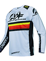 cheap -CAWANFLY Men's Long Sleeve Cycling Jersey Downhill Jersey with Pants Dirt Bike Jersey Winter White Novelty Funny Bike Tee Tshirt Jersey Top Mountain Bike MTB Road Bike Cycling Quick Dry Breathable