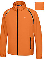 cheap -men's quick-dry running jacket, convertible upf 50+ cycling jacket windbreaker with removable sleeves, orange size s