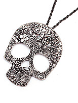 cheap -Pendant Necklace Women's Classic Silver Skull Vintage Cool Silver 3 76 cm Necklace Jewelry 1pc for Street Gift Daily Holiday Club irregular
