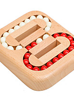 cheap -Wooden Ball Maze Puzzle Lock IQ Puzzle Brain Teaser Toy Wooden Kongming Lock Game Toy for Adults and Kids