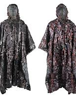 cheap -Men's Hunting Jacket Outdoor Windproof Totally Waterproof (20,000mm+) Wearproof Fall Spring Summer Camo Polyester Fuchsia Green