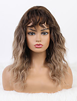 cheap -Synthetic Wig kinky Straight Bob Wig Blonde Medium Length Synthetic Hair 20 inch Women's Fashionable Design Cute Women Blonde