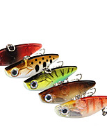 cheap -5 pcs Fishing Lures Vibration / VIB 3D Eyes Sinking Bass Trout Pike Lure Fishing Freshwater and Saltwater