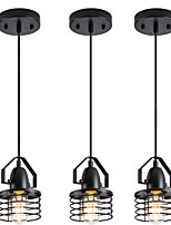 cheap -LED Pendant Light Modern Black Bedside Light Modern 12 cm Lantern Desgin Geometric Shapes Island Light Metal Vintage Style Metal Mini Painted Finishes Vintage Country 110-120V 220-240V