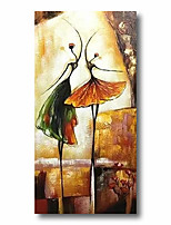 cheap -Stretched Oil Painting Hand Painted Canvas Abstract Comtemporary Modern High Quality Dancer Girls Heavy Oil Ready to Hang