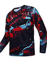 cheap -Men's Long Sleeve Downhill Jersey with Pants Dirt Bike Jersey Winter Black / Red Novelty Funny Bike Tee Tshirt Jersey Top Mountain Bike MTB Road Bike Cycling Breathable Sports Clothing Apparel