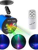 cheap -Stage Light Disco Lights 3 Lens Party Laser Lights Dj Stage Strobe Lights Projector Effect Sound Activated with Remote Control for Xmas Bar Parties Karaoke KTV