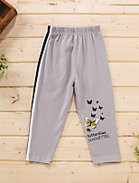cheap -Toddler Girls' Pants Graphic Print Gray Active 2-6 Years