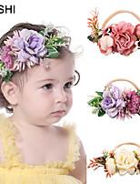 cheap -amazon creative color simulation flower children's nylon stretch headband, cross-border fashion baby super soft hair accessories