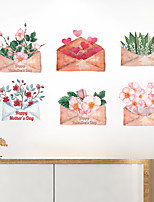cheap -Wall Sticker Envelope Bouquet Romantic Porch Sofa Bedhead Dining Room Bathroom TV Background Decorative Wall Paste