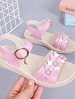 cheap -Girls' Sandals Comfort Children's Day Princess Shoes PU Big Kids(7years +) Daily Home Walking Shoes Rhinestone White Pink Spring Summer