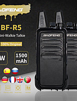cheap -2pcs/lot baofeng bf-r5 mini walkie-talkie bf r5 usb charging handheld fm transceiver cb radio uhf bf-888s bf888s two way radio