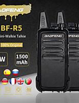 cheap -2pcs/lot baofeng bf-r5 mini walkie-talkie bf r5 usb charging handheld fm transceiver cb radio uhf bf-888s bf888s two way radio