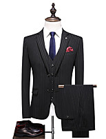 cheap -Tuxedos Standard Fit Notch Single Breasted Two-buttons Polyester Striped