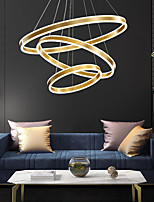 cheap -LED Pendant Light Circle Ring Design Modern Gold Luxury 80 cm Lantern Desgin Metal Electroplated LED 110-120V 220-240V