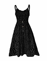 cheap -guteidee women's sleeveless strappy summer beach swing dress black xl