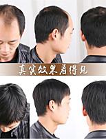 cheap -men's hair replacement, short hair, short hair, mediterranean baldness, real hair covering white hair, natural lifelike breathable wig replacement top