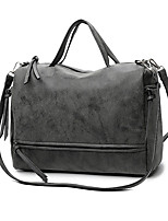 cheap -Women's Bags PU Leather Crossbody Bag Top Handle Bag Tassel Zipper Solid Color Daily Office & Career Handbags Watermelon Red Army Green Dark Blue Gray
