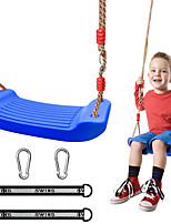 """cheap -Play Swing, Swing Seat, Kids Outdoor Swing Seat 78"""" Adjustable Strong Chain with Hanging Straps & Snap Hooks, Playground Swing Seat Replacement Tree Swing Set Accessories (Blue/Red)"""