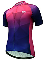 cheap -JESOCYCLING Women's Short Sleeve Cycling Jersey Fuchsia Bike Jersey Mountain Bike MTB Road Bike Cycling Quick Dry Breathable Sports Clothing Apparel / Stretchy