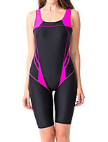 cheap -Women's One Piece Swimsuit Nylon Swimwear Quick Dry Breathable Sleeveless Swimming Surfing Water Sports Patchwork Summer