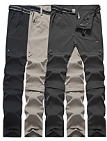 cheap -Men's Hiking Pants Trousers Convertible Pants / Zip Off Pants Summer Outdoor Regular Fit Ultra Light (UL) Quick Dry Lightweight Breathable Pants / Trousers Bottoms Dark Grey Black Khaki Hunting