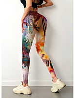 cheap -Women's Colorful Fashion Comfort Leisure Sports Weekend Leggings Pants Graphic Landscape Ankle-Length Sporty Elastic Waist Print Purple