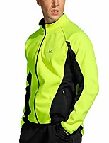 cheap -cycling winter windproof jacket men fleece softshell wind coat green x-large