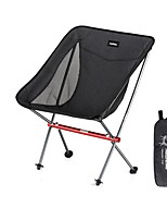 cheap -Camping Chair Portable Ultra Light (UL) Multifunctional Foldable Aluminum Alloy for 1 person Fishing Beach Camping Traveling Autumn / Fall Winter Black Grey / Breathable / Comfortable