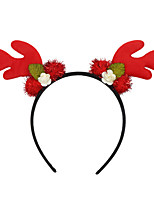 cheap -shiraz october christmas antlers headband holiday party headband european and american children's prom headwear deer ears hair accessories