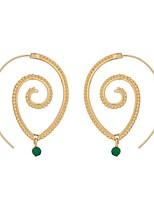 cheap -Women's Hoop Earrings Geometrical Floral Theme Stylish Simple Basic Boho Earrings Jewelry Golden / Silver For Gift Daily Festival