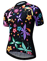 cheap -JESOCYCLING Women's Short Sleeve Cycling Jersey Black Bike Jersey Mountain Bike MTB Road Bike Cycling Quick Dry Breathable Sports Clothing Apparel / Stretchy