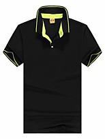 cheap -Men's T shirt Hiking Tee shirt Short Sleeve Tee Tshirt Top Outdoor Quick Dry Lightweight Breathable Sweat wicking Autumn / Fall Spring Summer Sapphire Navy Conran Hunting Fishing Climbing
