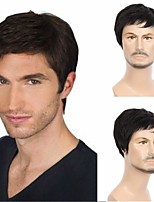 cheap -Men's Short Straight Black Wig Suitable for middle-aged and elderly men