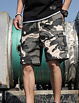 """cheap -Men's Hiking Shorts Hiking Cargo Shorts Military Camo Summer Outdoor 12"""" Ripstop Quick Dry Multi Pockets Breathable Cotton Knee Length Bottoms Army Green Orange Khaki Work Hunting Fishing M L XL XXL"""