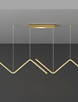 cheap -LED Pendant Light Black Gold Modern For Dining Room Restaurant Living Room 90 cm Line Design Aluminum Stylish Black Nordic Style 220-240V