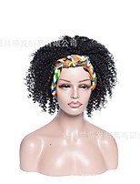 cheap -new foreign trade headscarves wigs europe, america and africa wigs small curly short curly hair fluffy chemical fiber wigs wigs