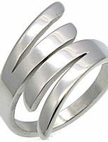 cheap -jude jewelers stainless steel angel wing style statement anniversary ring (silver, 7)