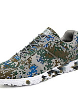 cheap -Men's Sneakers Comfort Shoes Sporty Casual Classic Daily Office & Career Microfiber Breathable Non-slipping Wear Proof Rainbow Camouflage Spring Summer