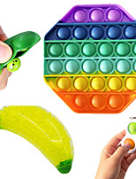 cheap -4 pcs Sensory Fidget Toys Set Squeeze Soybean Banana Stress Relief Balls with Fidget Hand Toys for Kids Adults Calming Toys for ADHD Autism Anxiety Relief