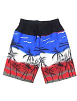 cheap -Men's Swim Shorts Swim Trunks Bottoms Breathable Quick Dry Drawstring - Swimming Diving Surfing Camo / Camouflage Autumn / Fall Spring Summer / Micro-elastic