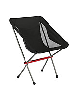 cheap -Camping Chair Multifunctional Portable Breathable Ultra Light (UL) Aluminum Alloy for 1 person Fishing Beach Camping Traveling Autumn / Fall Winter Black Purple Grey Dark Green