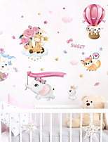 cheap -Animals Cartoon Wall Stickers Bedroom Kids Room Kindergarten Removable Pre-pasted PVC Home Decoration Wall Decal 1pc