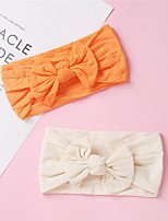 cheap -1pcs Toddler / Infant Girls' Active / Sweet Daily Wear Blue Solid Colored Bow Nylon Hair Accessories Orange / Beige One-Size